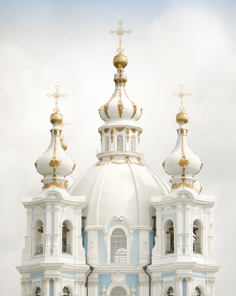 Fine art photography White Domes of Smolny Cathedral