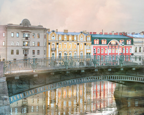 Fine art photography St Petersburg city view with reflections