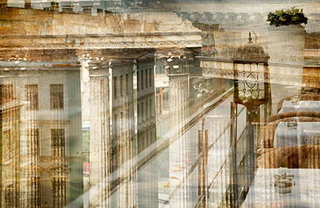 Architectural abstract city view, St-Petersburg photography print