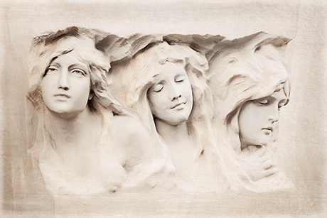 Architectural Art-Nouveau bas-relief Fine art photography