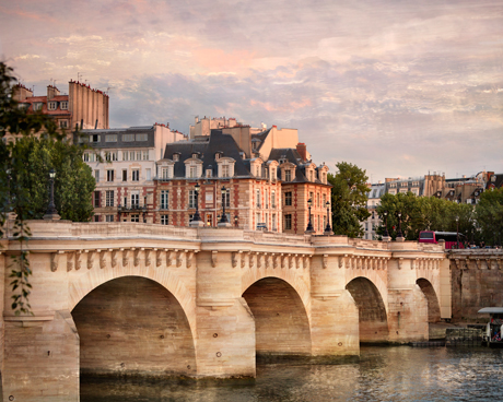 Paris сityscape with the Pont Neuf  photography print