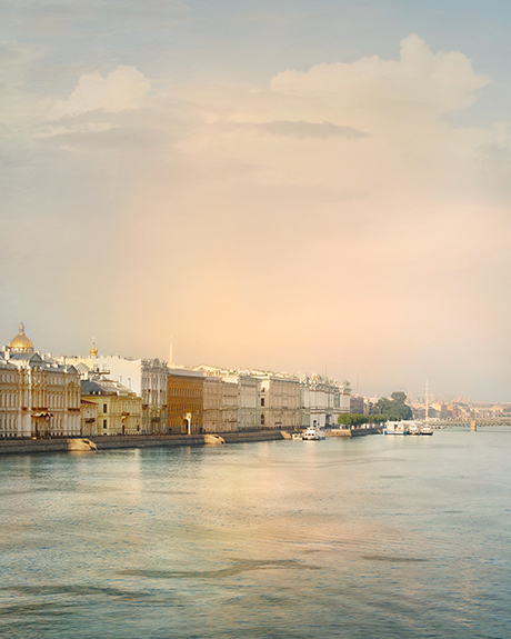 Morning cityscape of Petersburg  photography print