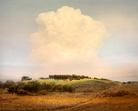 Landscape photography with large cloud