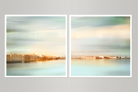 set of two photography prints Saint-Petersburg Russia