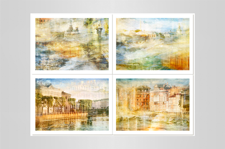 Set of 4 prints St-Petersburg photography prints