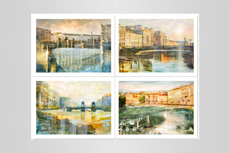 city views of St-Petersburg photography prints